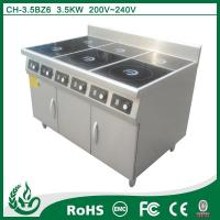 China Induction range vertial high efficiency stainless steel six burner induction hob on sale