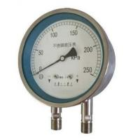 China Stainless steel differential pressure gauge on sale