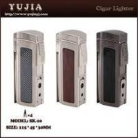 Best High-end Multi-fonction four flame cigar lighter with cigar cutter and punch Manufactures