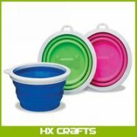 China ANY COLOR - SILICONE COLLAPSIBLE DOG BOWL - 3 CUP on sale
