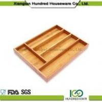 Wholesale Solid Bamboo Kitchen Cutlery Tray Manufactures