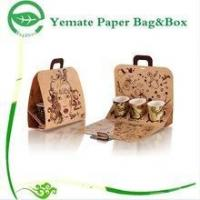 unique creative design printed craft brown kraft coffee cup mugs packaging paper bag