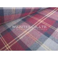 100% Cotton Yarn Dyed Fabric, Twill Weave, Check Brushed Cloth Manufactures