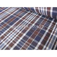 China Competitive Price 100% Cotton Yarn Dyed Fabric , plain weave plaid 145 /147cm width on sale
