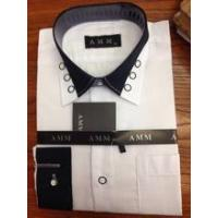 Buy cheap 2015 new designer buttom down collar white cotton italian brand men shirt from wholesalers