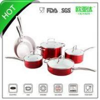 China SGS approved 10pcs ceramic coated cookware set on sale