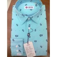 Buy cheap 2014 fancy long sleeve anchor pattern blue men's dress shirt from wholesalers