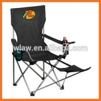 China camping folding chair with footrest and cup holder on sale