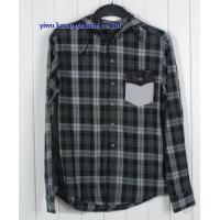 KM-633 Wholesale plaid flannel shirt hooded flannel shirts Manufactures