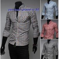 KM-630 Mens tailored fit button down check shirts plaids shirts for man Manufactures