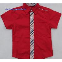 Buy cheap Boys short sleeve shirts checked contrast boys casual shirts from wholesalers