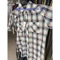 Buy cheap KM-550 Man short sleeve cotton checks plaids shirts from wholesalers
