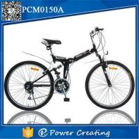 Steel Fork Material 21 speed V brakes folding mountain bicycle Manufactures