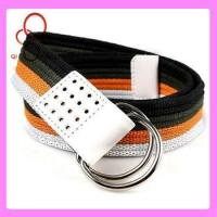 double d ring custom web mexican belt Manufactures