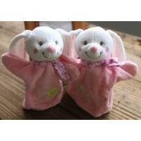plush animal hand puppet/wholesale rabbit hand puppet/kids animal hand puppets Manufactures