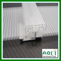 China U-Shaped Lock PC Roofing System 8MM Polycarbonate Roofing System on sale