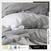 luxury solid color bed sheet sets queen size pure linen flat sheet Manufactures