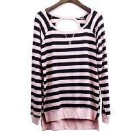 China Poly Rayon Stripe Cold Back Top on sale