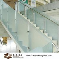 Buy cheap Acid Etched Glass Railings from wholesalers