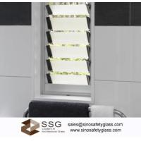 Buy cheap Acid Etched louver glass for shower room window from wholesalers