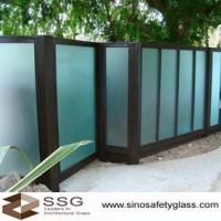 Buy cheap Acid Etched Glass Fencing from wholesalers