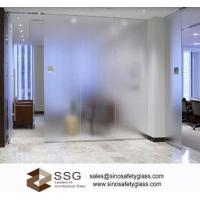 Buy cheap Acid etched Office partition glass for commercial building 6-12mm from wholesalers