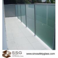 Buy cheap Acid Etched Glass Balustrade from wholesalers