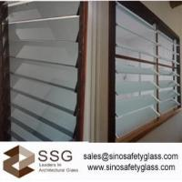 Buy cheap Louver glass wall with acid etch glass in 4mm 5mm 6mm from wholesalers