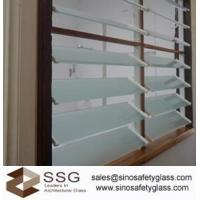 Buy cheap Froested Louver glass window from wholesalers