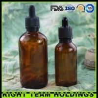 New Product 60ml 120ml amber glass oil bottle with childproof tamper evident cap Manufactures