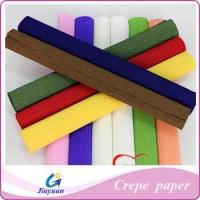 China Colored crepe paper,crepe paper packing flowers Model No.: JY-1303 on sale