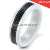 Buy cheap Black and white hot sale ceramic rings from wholesalers