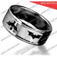 Pretty Brushed domend men stainless steel rings Manufactures