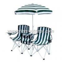 camping folding table and chair sets with umbrella and cooler bag Manufactures