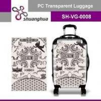 summer holiday&travelling transparent pc customized suitcase Manufactures