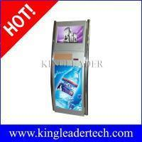 Self serve ticketing kiosk with SAW touchscreen and two stainless steel poles Manufactures