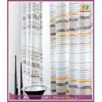 China Horizontal corlorful stripe window curtains wholesale