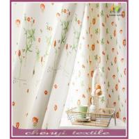 China New desigh floral printing window curtains for living room wholesale