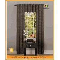 New style three pieces linen blackout curtain set with eyelets top for window decorational Manufactures