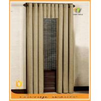 Plain color linen blackout curtain with grommet top curtain stand for home hotel coffee room Manufactures
