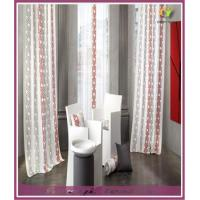 high quality geometrical type printed window curtains Manufactures