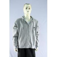 China Men's sweat shirt with hoody and full zip on sale