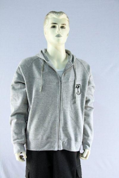 Quality Men's sweat shirt with hoody and full zip for sale