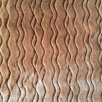 Buy cheap brown short pile wave pattern fake fur fabric for garment,bag from wholesalers