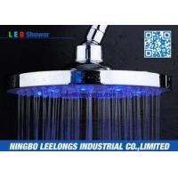 Hotel SPA Ceiling Mounted Rain Shower Heads Overhead , Blue Led Shower Head Manufactures