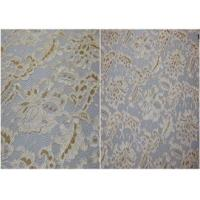 Underwear Stretchy Metallic Lace Fabric / Corded Jacquard Lace Fabric Manufactures