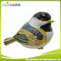 Buy cheap Custom zinc alloy enamel jewelry boxes from wholesalers