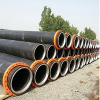 Hdpe dredging pipe with steel ring inside the neck--new design Manufactures