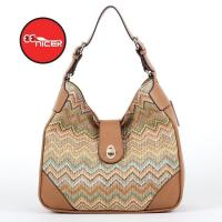 Quality Newest PE Imitated Straw Ladies Leisure Handbag for sale