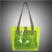Quality Clear PVC Beach Bags with Animal Printing Inner Pouch for sale